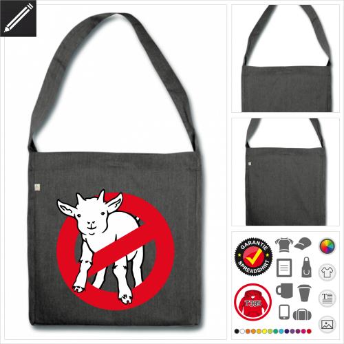 Shopper Afraid of no goat Tasche selbst gestalten. Online Druckerei