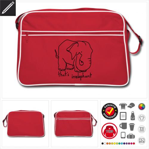 Irrelephant Sporttasche selbst gestalten. Online Druckerei