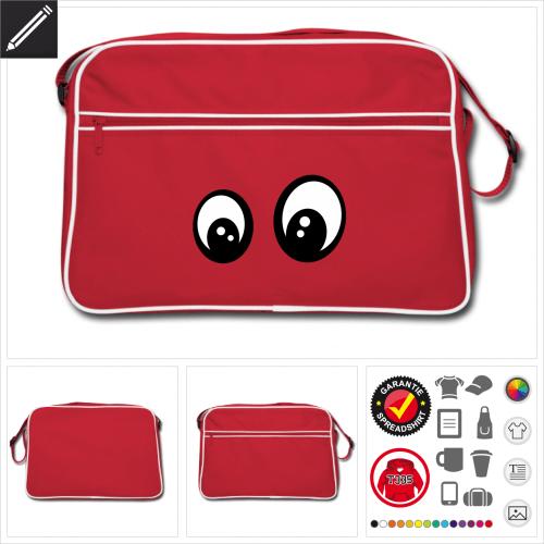 Lustiges Smiley Tasche online gestalten