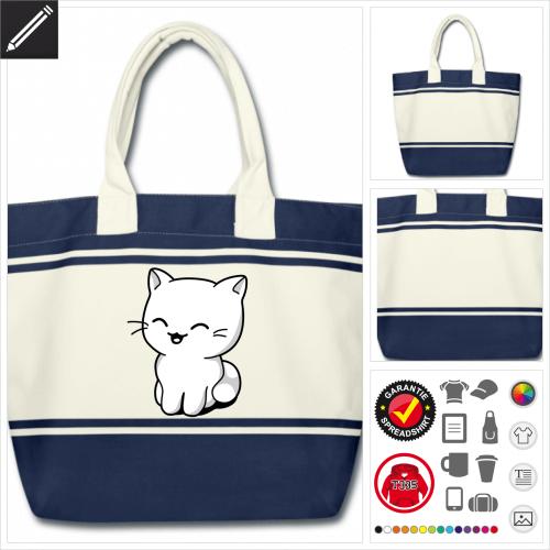 Kawaii Kätzchen Tasche selbst gestalten