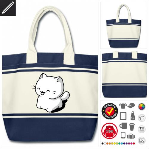 Katze lachend Tasche online Druckerei, höhe Qualität