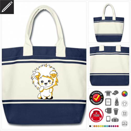 Katze Tasche selbst gestalten. Online Druckerei