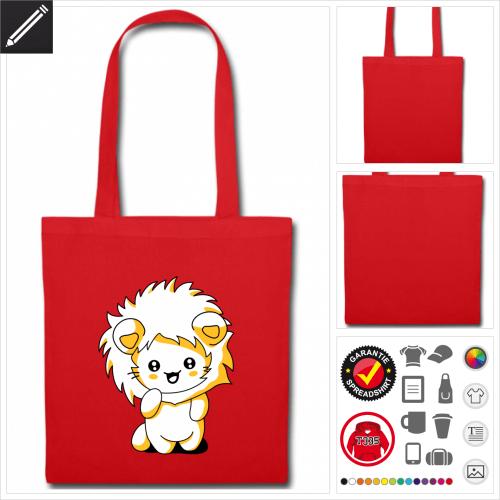 Katzen Stofftasche mit Griffen online zu gestalten