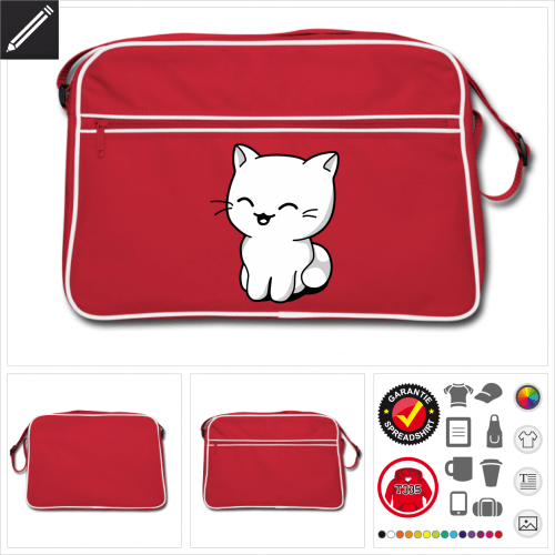 Retro Kawaii Kätzchen Tasche selbst gestalten