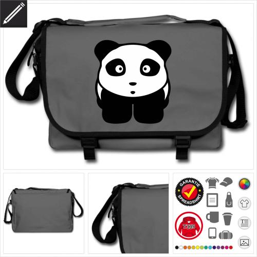Kawaii Panda Umhängetasche personalisieren