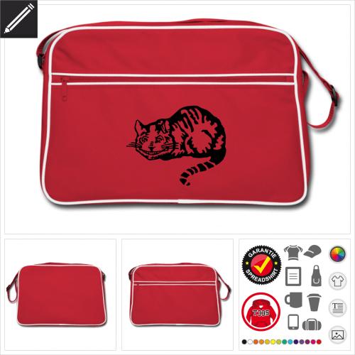 Retro Cheshire Katze Tasche personalisieren