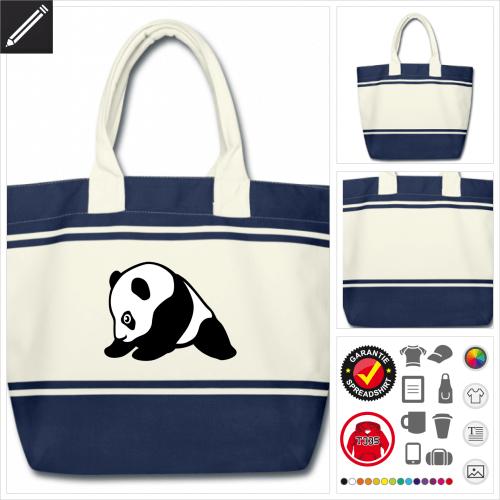 Süßer Panda Tasche selbst gestalten