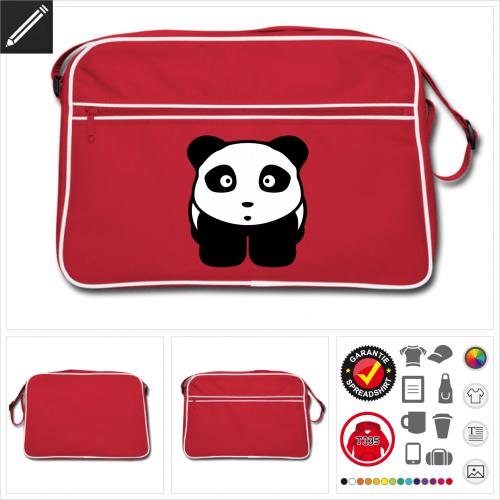Pandabär Umhängetasche personalisieren