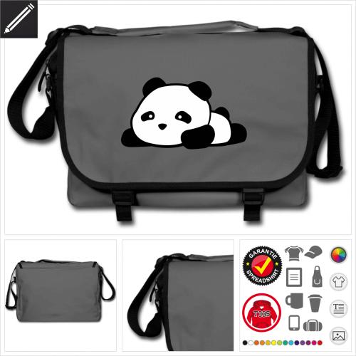 Panda Umhängetasche online Druckerei, höhe Qualität