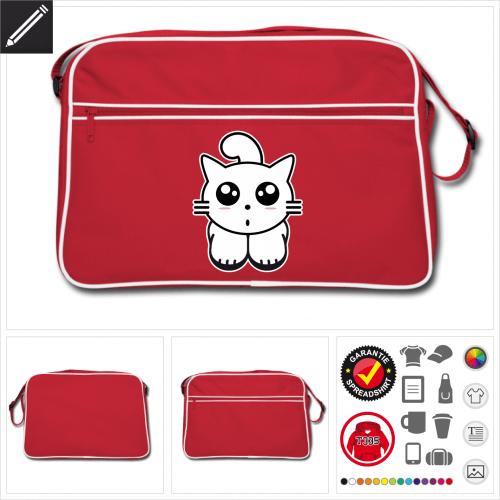 Retro Katzen Tasche zu gestalten