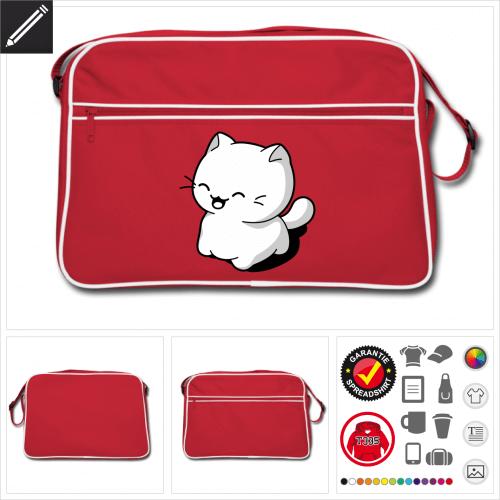 Katze Tasche gestalten, Druck ab 1 Stuck