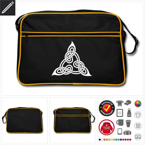 Retro Keltisches Tasche online zu gestalten