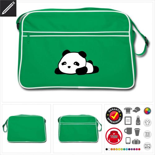 Panda kawaii Umhängetasche selbst gestalten. Online Druckerei