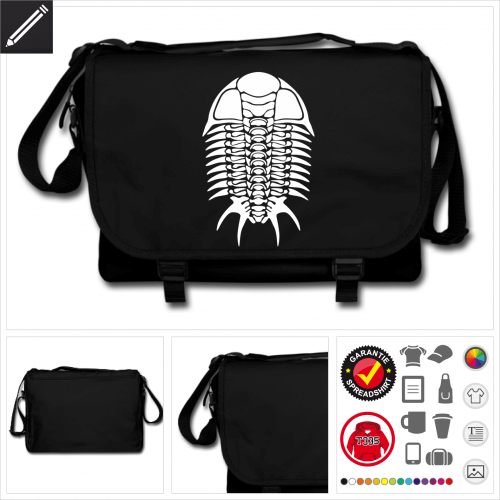 Trilobit Schulltertasche online Druckerei, höhe Qualität