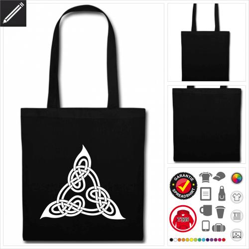 Keltischer Dreieck Tasche mit Griffen online gestalten