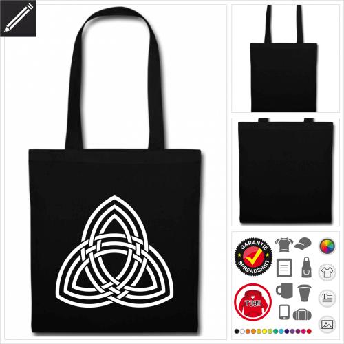 schwarze Thor Stofftasche selbst gestalten. Online Druckerei
