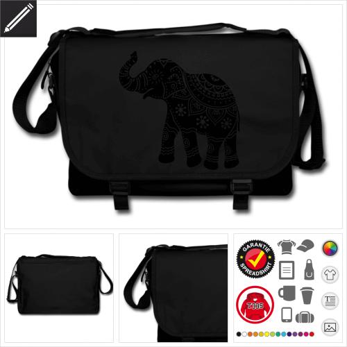 Elefanten Schulltertasche online gestalten