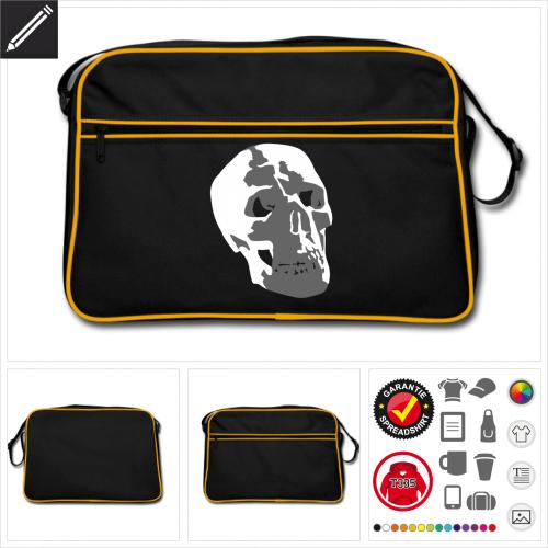 Totenköpfe Sporttasche personalisieren
