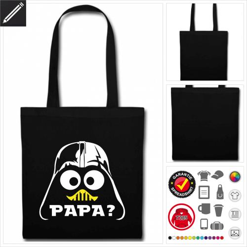 schwarzer Darth Vader Stoffbeutel personalisieren