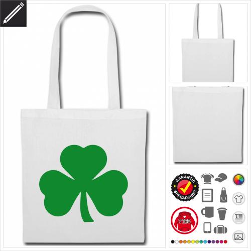 St Patricks Day Stofftasche online Druckerei, höhe Qualität