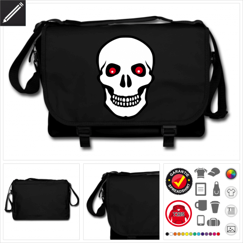 Piraten Schulltertasche zu gestalten