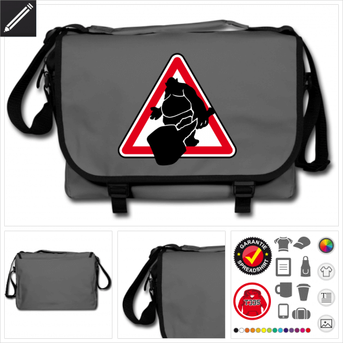 Verkehrsschild Schultasche selbst gestalten