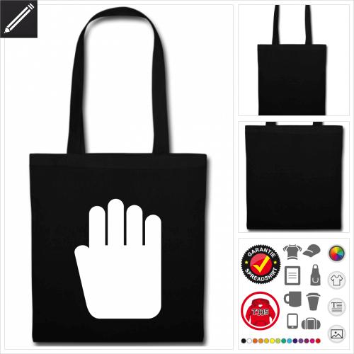 Hand Stofftasche online zu gestalten
