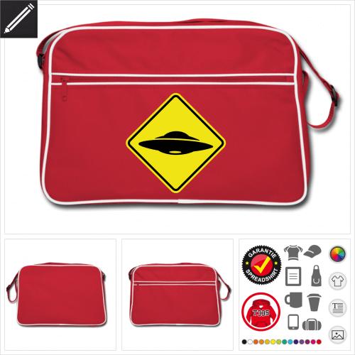 Retro Verkehrsschild Tasche online Druckerei, höhe Qualität