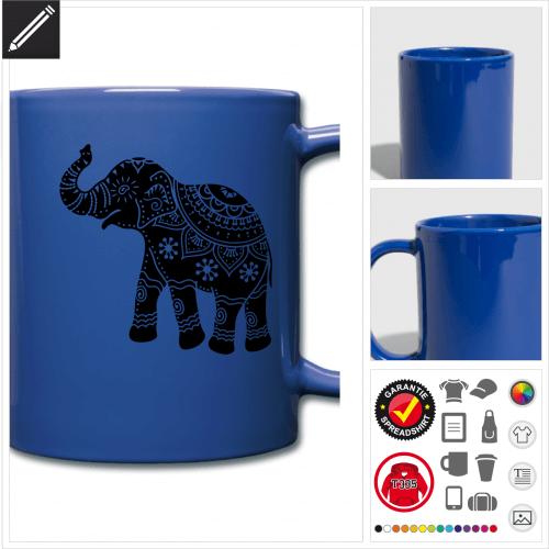 Elefanten Tasse selbst gestalten