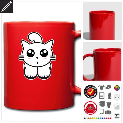 Katze Tasse online gestalten