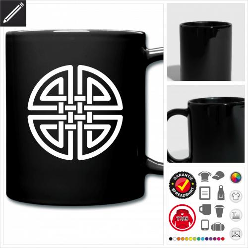 farbige Keltisches Symbol Tasse online zu gestalten