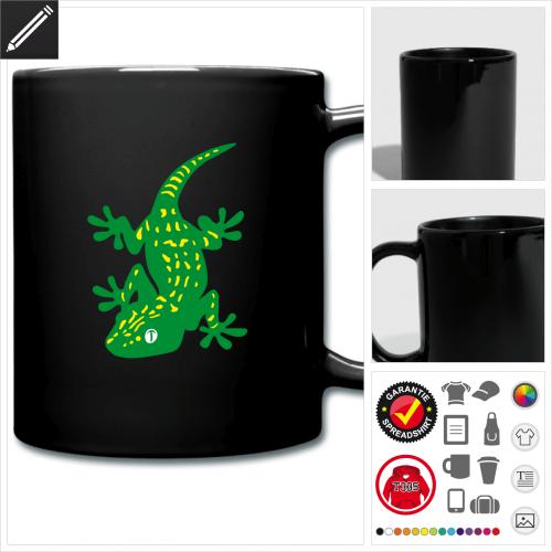 Reptilien Tasse online Druckerei, höhe Qualität