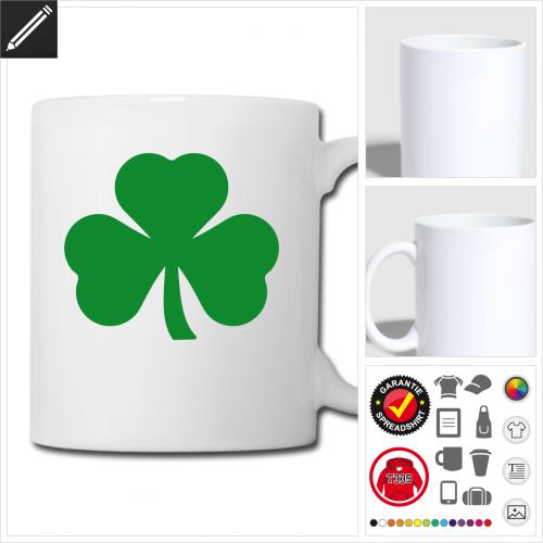 St Patricks Day Tasse selbst gestalten. Online Druckerei