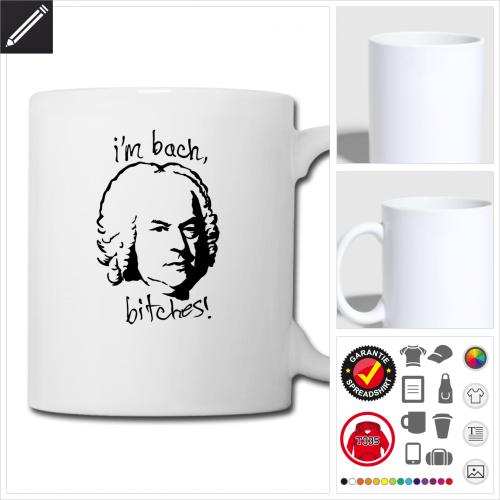 weisse Bach Tasse online gestalten