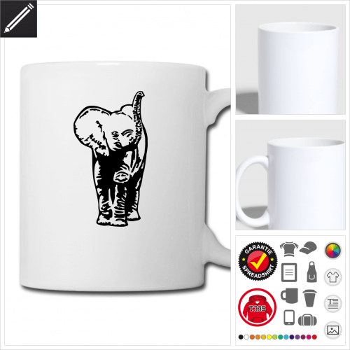 Baby-Elefant Tasse selbst gestalten