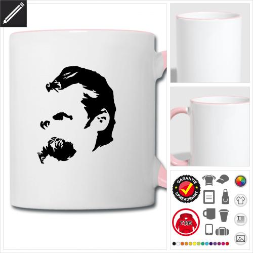 zweifarbige Nietzsche Tasse selbst gestalten. Online Druckerei